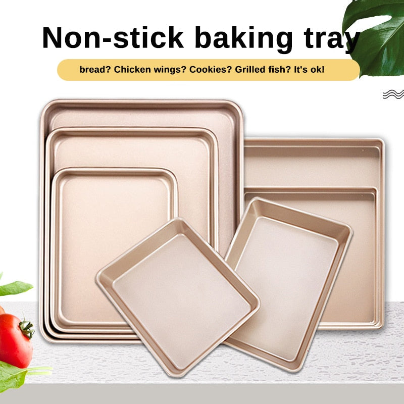 Buy OK-CHEF - Rectangular Baking Tray 9 Sizes Nonstick Carbon Steel Baking Pan Cake Baking Pan Cake Tools Baking Tools