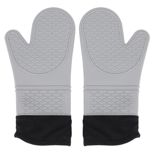 Buy OK-CHEF - 1 Pair Oven Mitts and Pot Holders,Heat Resistant Non-Slip Surface,for BBQ Baking,Cooking(Machine Washable)(Gray)