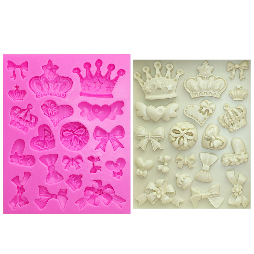 Buy OK-CHEF - Cartoon Crown & Bow Tie Silicone Fondant Cake Mold Cupcake Jelly Candy Chocolate cake Decoration Baking Tool Moulds
