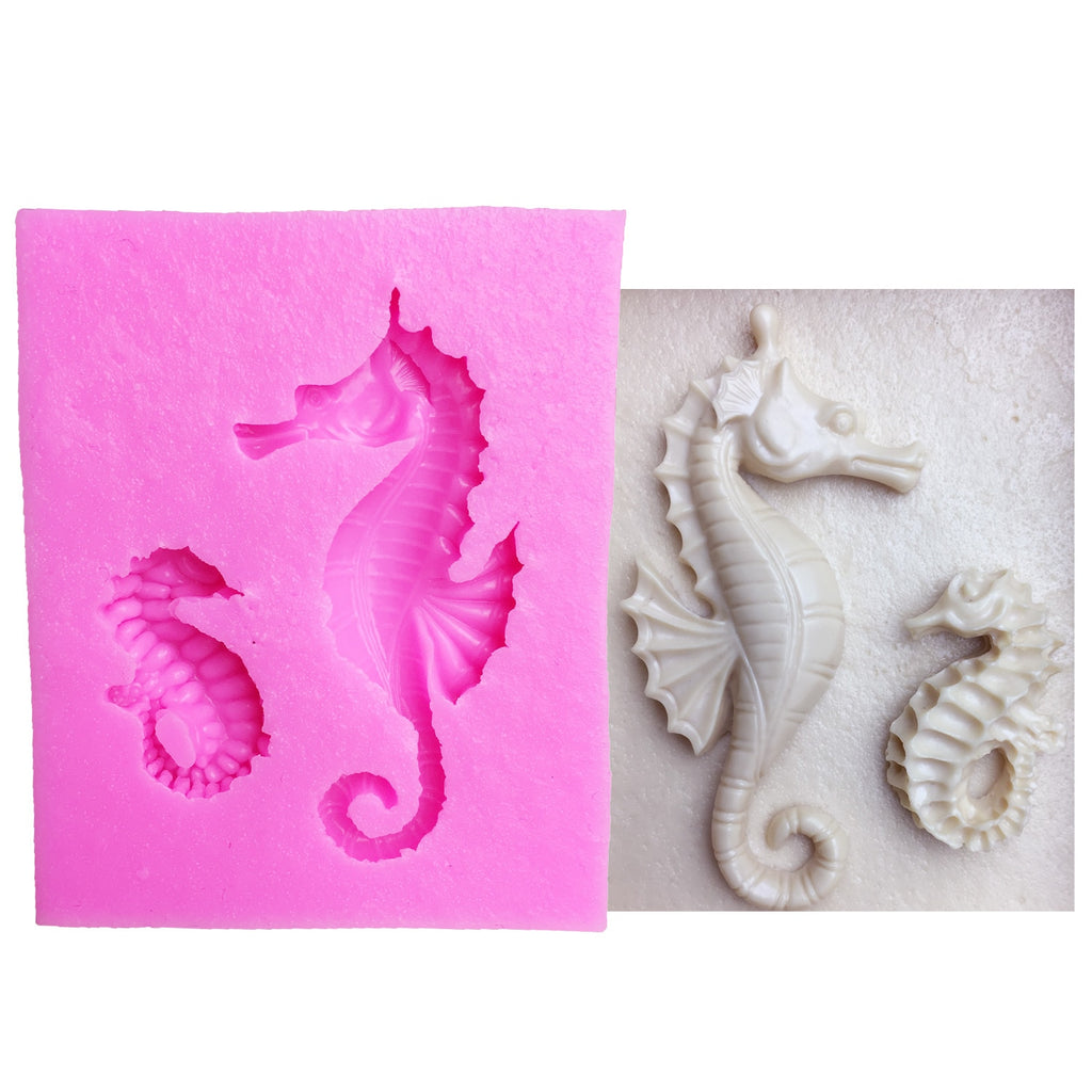 Buy OK-CHEF - Cake Tools sea horse seahorse mould silicone mold Cake Fondant tool Decorating DIY Kitchen Baking Bakeware