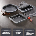 Buy OK-CHEF - 6Pcs Bakeware Set Nonstick Carbon Steel Baking Bread Pan Cookies Sheet Layered Cake 12-Cup Muffin Round and Square Baking Pan
