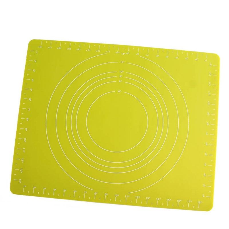 Buy OK-CHEF - 2MM Kneading Silicone Dough Mat non stick silicone mat rolling dough liner baking mat pizza dough Large Size pastry tool