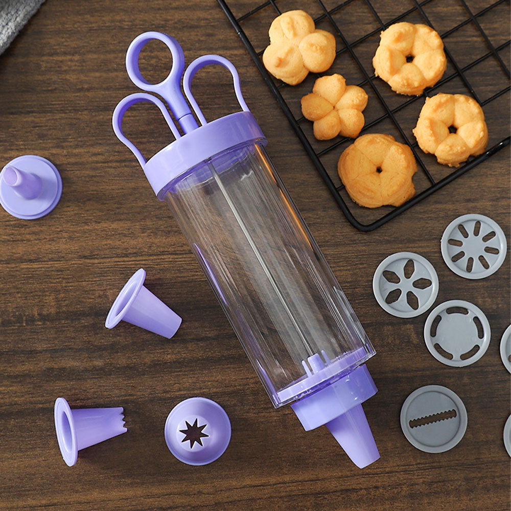 Buy OK-CHEF - Cookies Press Cutter Baking Tools Cookie Biscuits Press Machine Kitchen Tool Bakeware With 10 Cookie Molds and 8 Nozzles