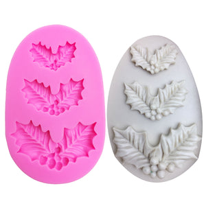Buy OK-CHEF - Christmas leaves Shaped silicone mold for confectionery chocolate fondant cake decoration tree leaf baking tools