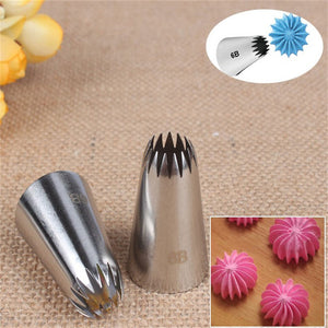 Buy OK-CHEF - Stainless Steel Nozzle Cake Decorating Tips Writing Tube Icing Nozzle Baking & Pastry Tools Cupcake Baking Tools 6B#