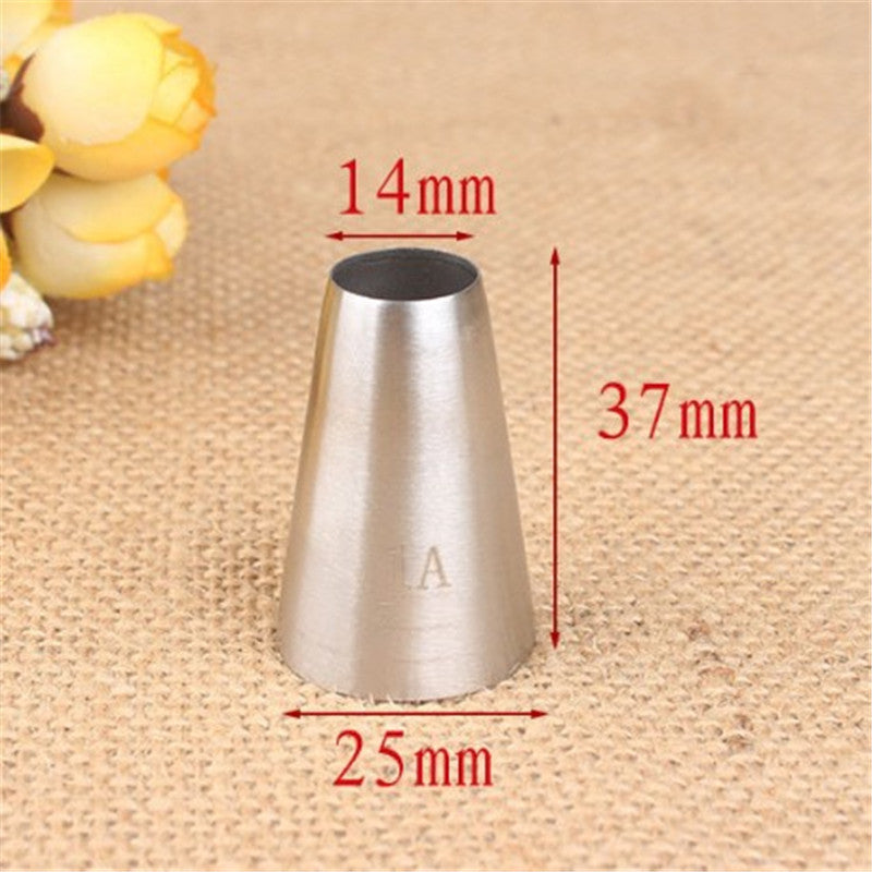 Buy OK-CHEF - Large Size Round Metal Cake Cream Decoration Tip Stainless Steel Piping Icing Nozzle Pastry Tools Baking Tools #1A