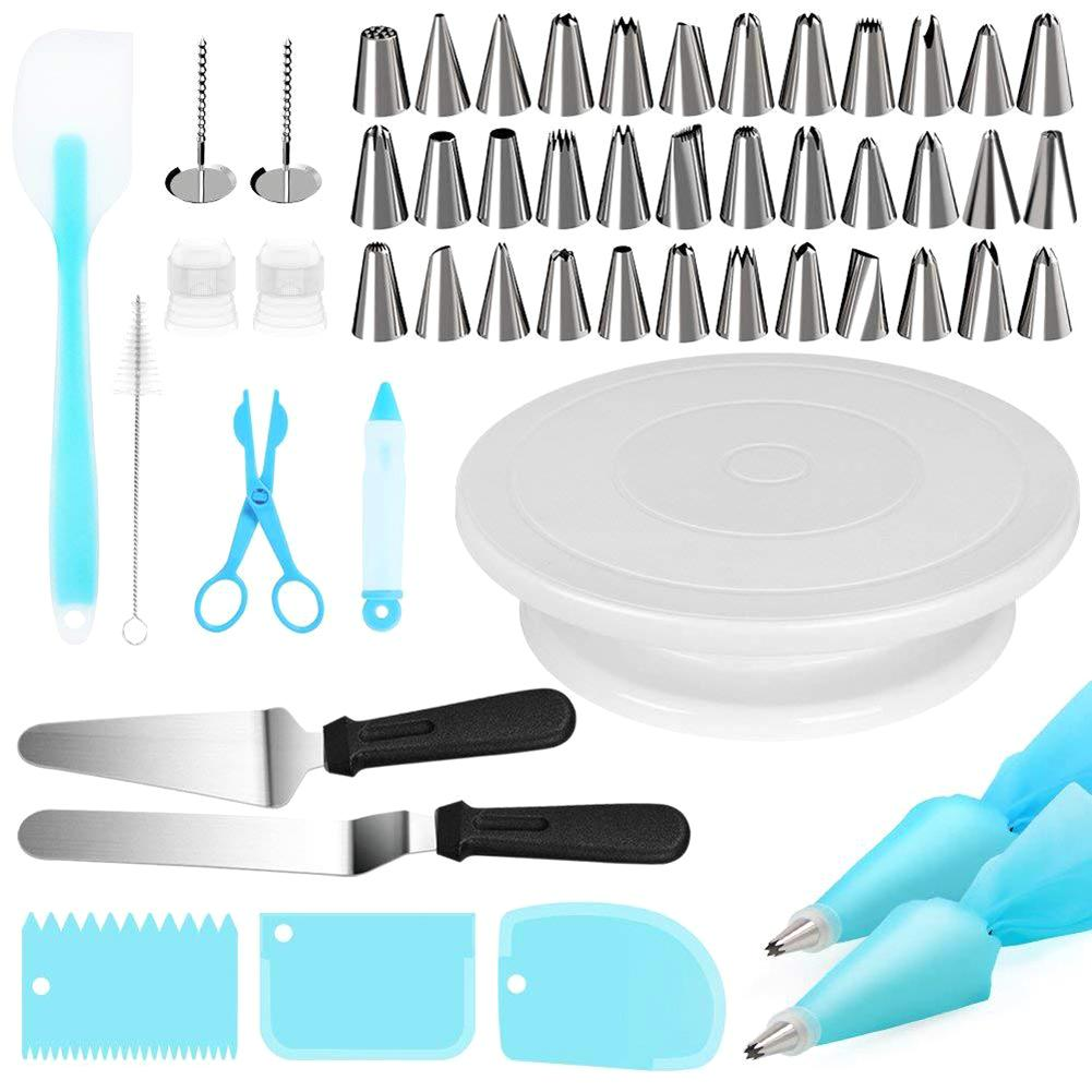 Buy OK-CHEF - 52 Pcs/Set Cake Decorating Tools Nozzle Pastry For Cream Turntable Cake Stand Piping Nozzle Set Pastry-Bags Cake-Knife Tools