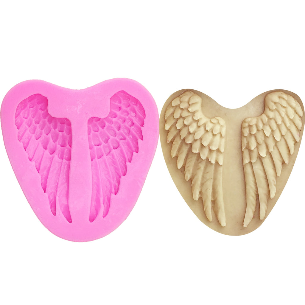 Buy OK-CHEF - Angel wings Silicone Mold Fondant Cake Decorating Tools Chocolate Gumpaste Molds, Sugarcraft, Kitchen Accessories