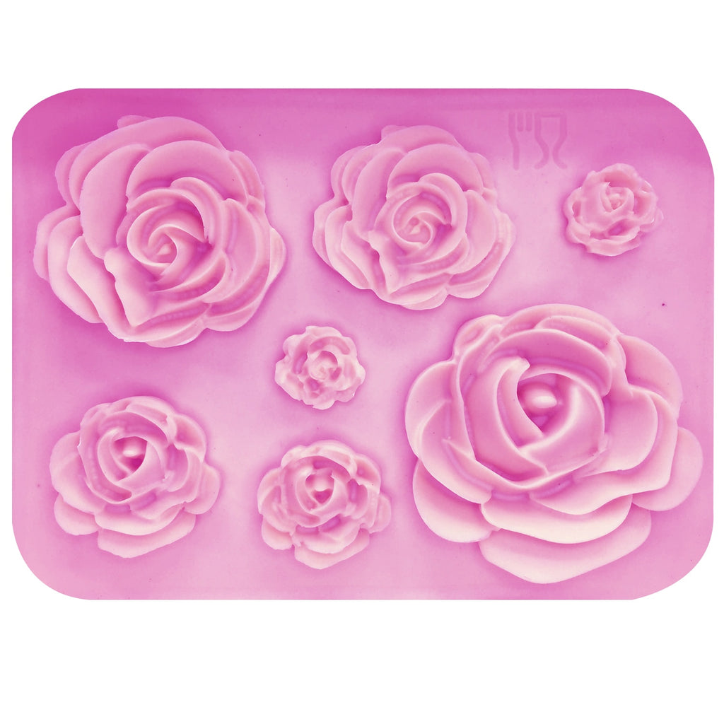 Buy OK-CHEF - Rose Flowers silicone mold Cake Chocolate Mold wedding Cake Decorating Tools Fondant Sugarcraft Cake Mold