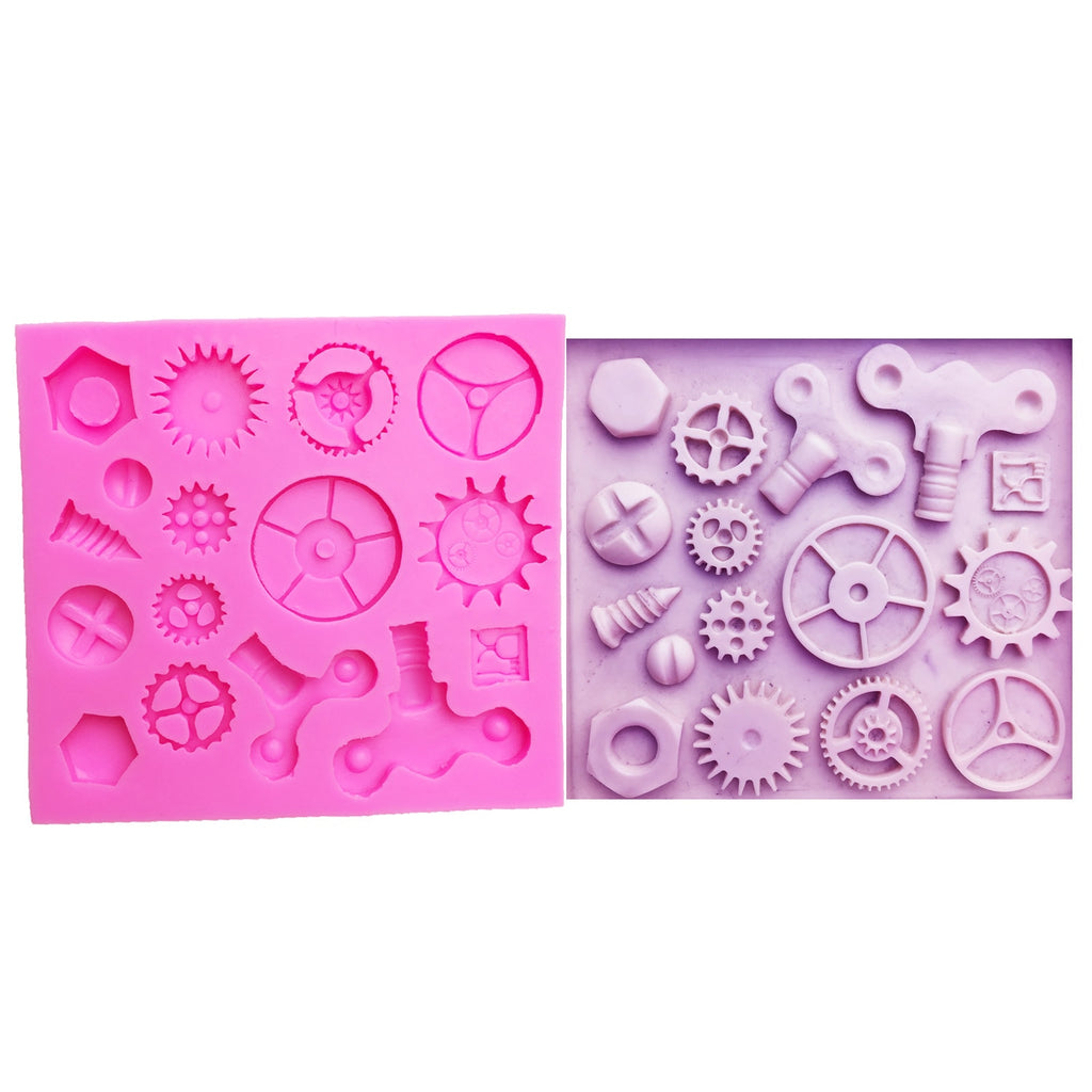 Buy OK-CHEF - Mechanical Screw Gear Cake Border Fondant Cake Molds for Kitchen Baking cake Decoration Tool