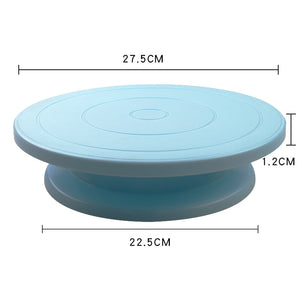 Buy OK-CHEF - 10 Inch Cake Turntable Rotating Anti-skid Round Cake Stand Cake Decorating Tools Cake Rotary Table Kitchen DIY Pan Baking Tools