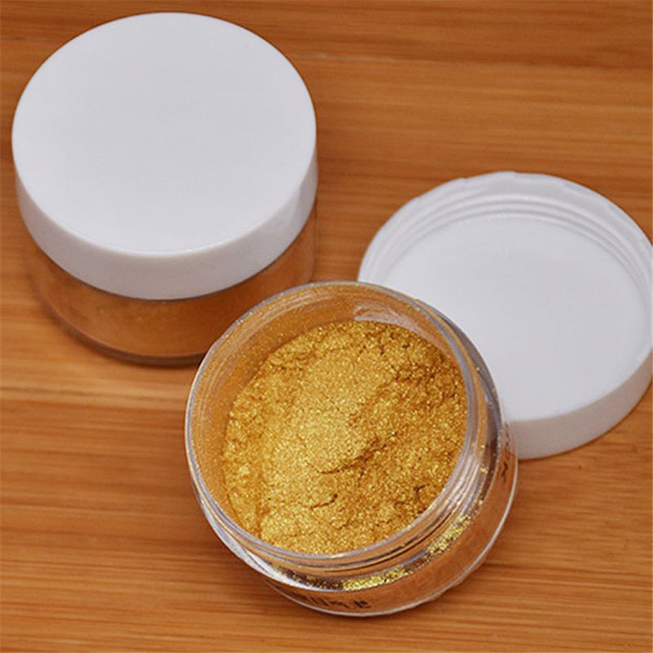 Buy OK-CHEF - 5g Edible Flash Glitter Golden/Silver Powder for Decorating Food Cake Biscuit Baking Supply Birthday Cake Decor Tools