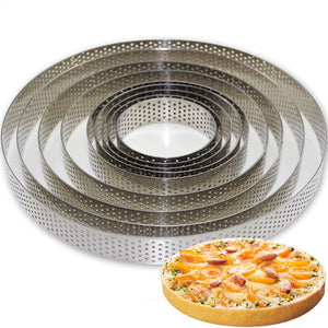 Buy OK-CHEF - 1pc Round Stainless Steel Cake Molds Mousse Cake Tart Circle Mold Pizza Dessert DIY Decor Mould Tart Ring Kitchen Baking Tool