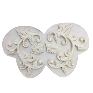 Buy OK-CHEF - Lace mat Leaf Pattern Silicone Mold Chocolate Cake Decorating Baking Tool Wedding Decoration tools Cupcake