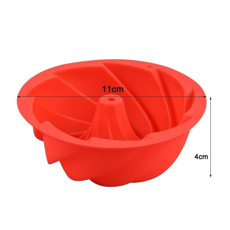 Buy OK-CHEF - Mini Small Swirl Shape Butter Silicone Bakeware Molds Cake Pan Baking Dishes Pastry cake mold 3d pans