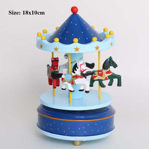Buy OK-CHEF - musical carousel cupcake toppers newborn baby boy first birthday girl cake decorating supplies carousel music box cake topper