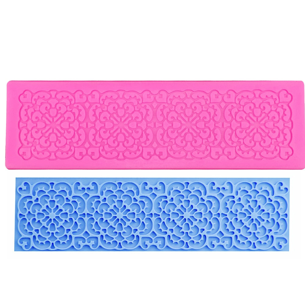 Buy OK-CHEF - Silicone Cake Lace Mat Silicone Lace Mold Fondant Cake Decorating Tools Border Decoration Lace Mold Stencil Baking