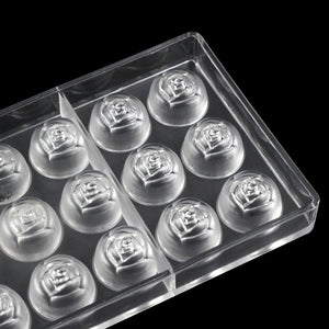 Buy OK-CHEF - Rose Shape Polycarbonate Chocolate Mold Confectionery Baking Tools Chocolate Candy Mold Cake Decoration
