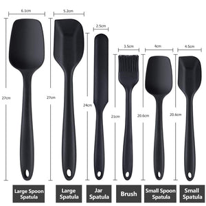 Buy OK-CHEF - 6 Piece Silicone Spatula Set Non-Stick Heat-Resistant Spatulas Turner for Cooking Baking Mixing Baking Tools