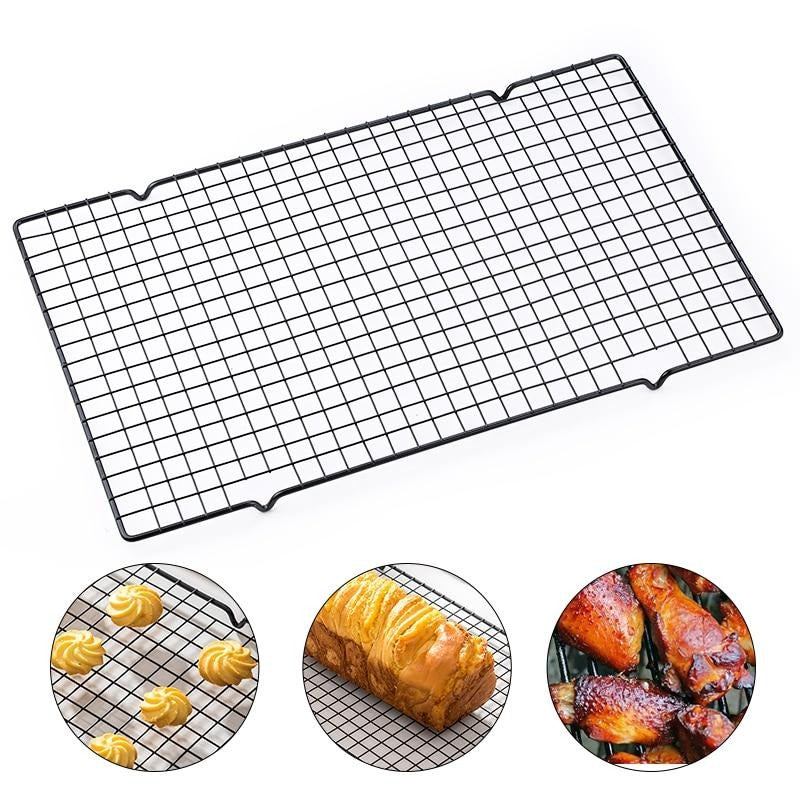 Buy OK-CHEF - 1pcs Single Layer Stainless Steel Biscuit Bread Cake Cooling Rack Drip Dry Rack Cooling Grid Baking Pan Household Baking Tools