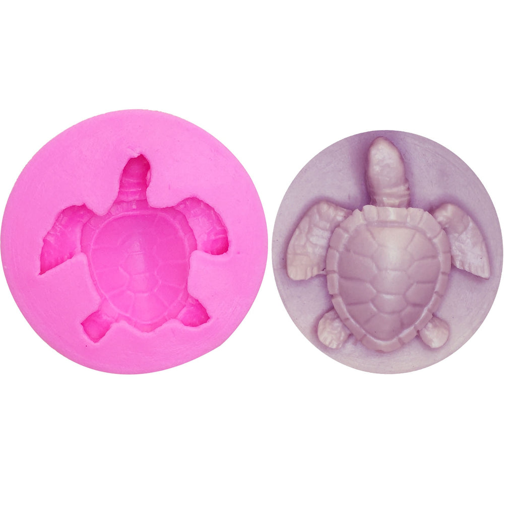 Buy OK-CHEF - Sea turtle Shape Silicone Mold Cake Fondant Paste DIY Tortoise Silicone Decorating Mould Chocolate Gum Paste Soap molds