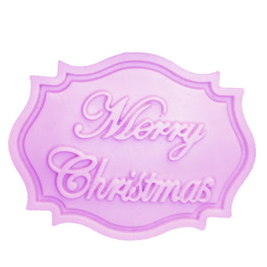 Buy OK-CHEF - Merry Christmas Letter form fondant cake silicone mold kitchen chocolate candy making cupcake cake decorating tools