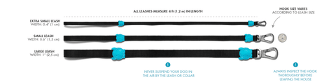 Zee.Dog Dog Leashes Sizing Chart
