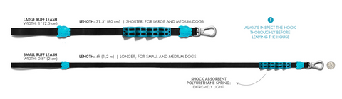 Shock Proof Leash Sizing Chart
