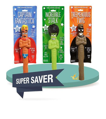 $10 ONLY [40% OFF]: DOOG SuperSticks Super Heroes Fetch Toy for Dogs