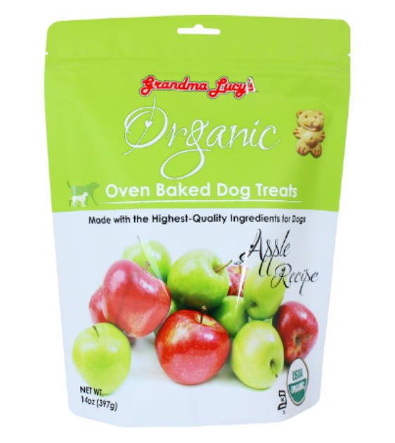 Grandma Lucy's Organic Oven Baked Apple Treats Dog Treats