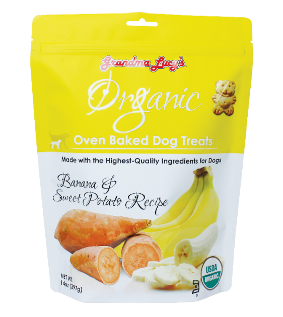 Grandma Lucy's Organic Oven Baked Banana & Sweet Potato Treats Dog Treats
