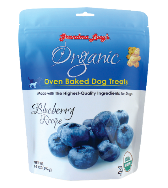 Grandma Lucy's Organic Oven Baked Blueberry Treats Dog Treats