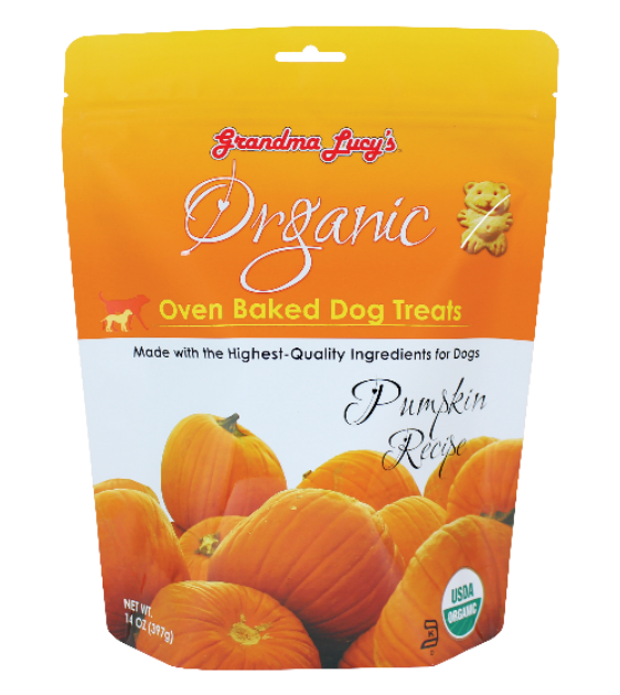 Grandma Lucy's Organic Oven Baked Pumpkin Treats Dog Treats