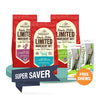 15% OFF + FREE CHEWS: [SAVER BUNDLE]: Stella & Chewy's Limited Ingredient Raw Coated Kibbles Dog Food
