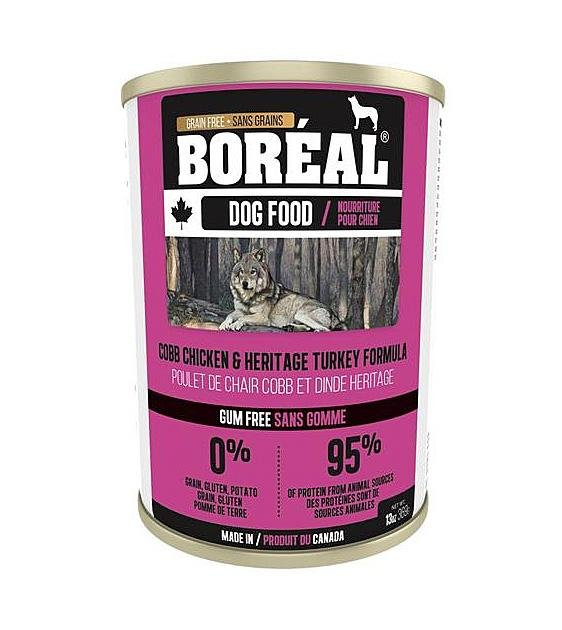 20% OFF: Boreal Canadian Grain Free Cobb Chicken & Heritage Turkey Wet Dog Food