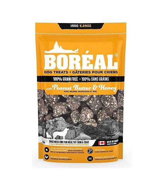 20% OFF: Boreal Peanut Butter & Honey Grain Free Dog Treats