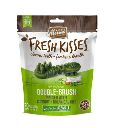 30% OFF: Merrick Fresh Kisses Double-Brush (Coconut & Botanical Oils) Dental Dog Chews
