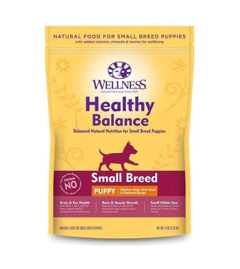 28% OFF: Wellness Healthy Balance (Small Breed Puppy) Chicken Meal, Pork Meal & Oatmeal Recipe Dry Dog Food