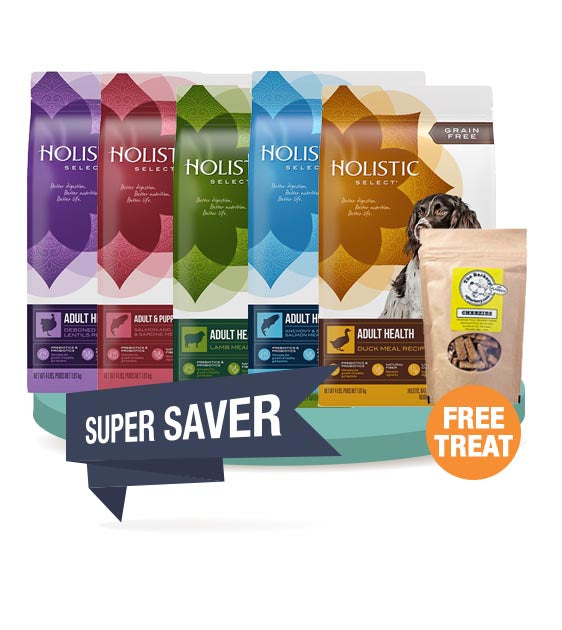 20% OFF + FREE TREATS: Holistic Select Dry Dog Food