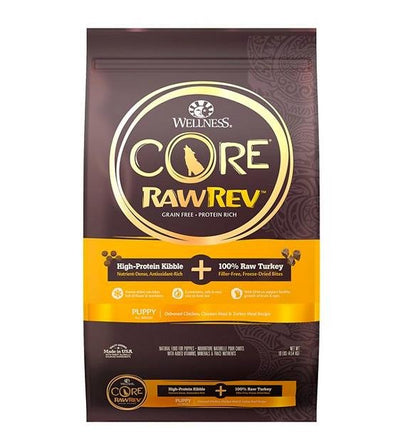 20% OFF: Wellness CORE RawRev Grain Free (Puppy) with Freeze Dried Turkey Dry Dog Food