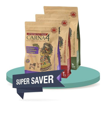 2 FOR 30% OFF [SAVER DISCOUNT]: Carna4 Quick Baked Air Dried Dry Dog Food