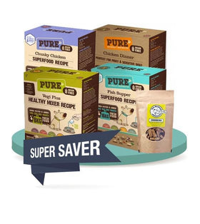 25% OFF + FREE 500g [SAVER BUNDLE]: PURE Dehydrated & Freeze Dried Dog Food