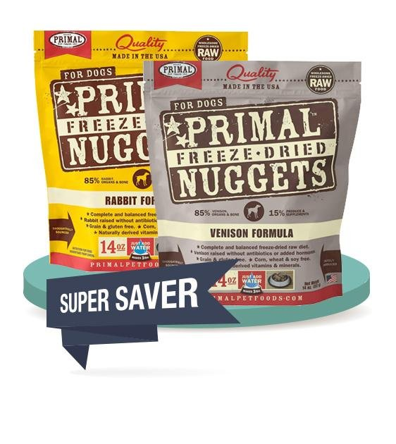 2 FOR $129 [SAVER BUNDLE]: Primal Freeze Dried Nuggets Dog Food