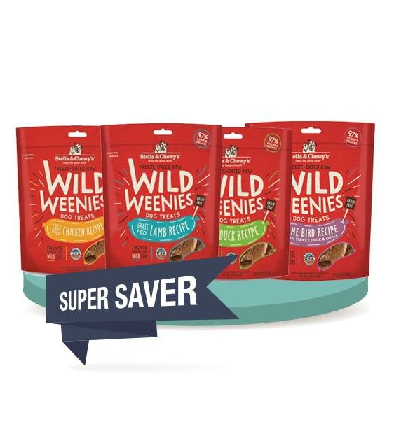 3 FOR $36 [SAVER BUNDLE]: Stella & Chewy's Wild Weenies Freeze Dried Dog Treats