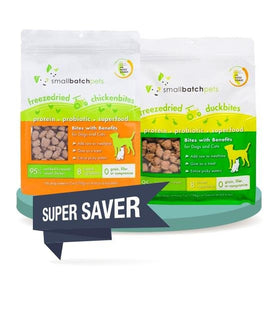 2 FOR $52 [SAVER BUNDLE]: Small Batch Freeze Dried Bites Dog Food Mixer