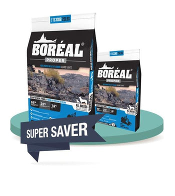 30% OFF + FREE 2.26KG (SAVER BUNDLE]: Boreal Proper All Breed Ocean Fish Meal Dry Dog Food