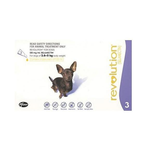 32% OFF: Revolution Heartworm, Flea & Tick Treatment For Extra Small Dogs (2.6kg - 5kg)