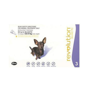 32% OFF: Revolution Heartworm, Flea & Tick Treatment For Extra Small Dogs (2.5kg - 5kg)