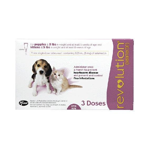32% OFF: Revolution Heartworm, Flea & Tick Treatment For Puppies & Kittens (Weighing 2.5kg or Less)