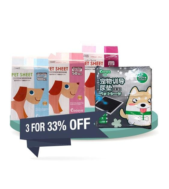 BUY 2 FREE 1 [SAVER BUNDLE]: Cocoyo Pet Sheet Dog Pee Pad